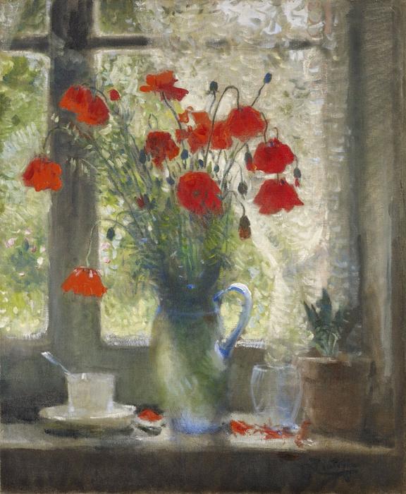 - Bouquet of Poppies in Window. 1942 (576x700, 464Kb)