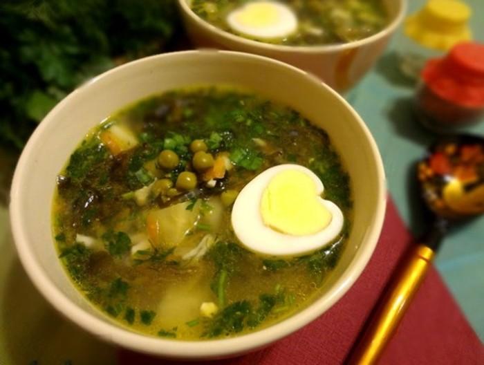 Суп с морской капустой рецепт с фото
