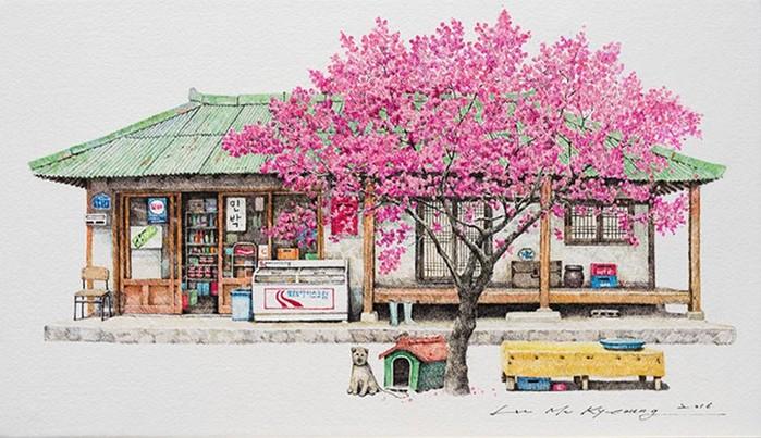 Миниатюрные магазинчики корейской художницы