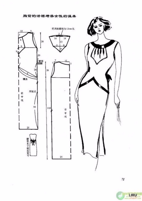 Фото выкройки модного платья