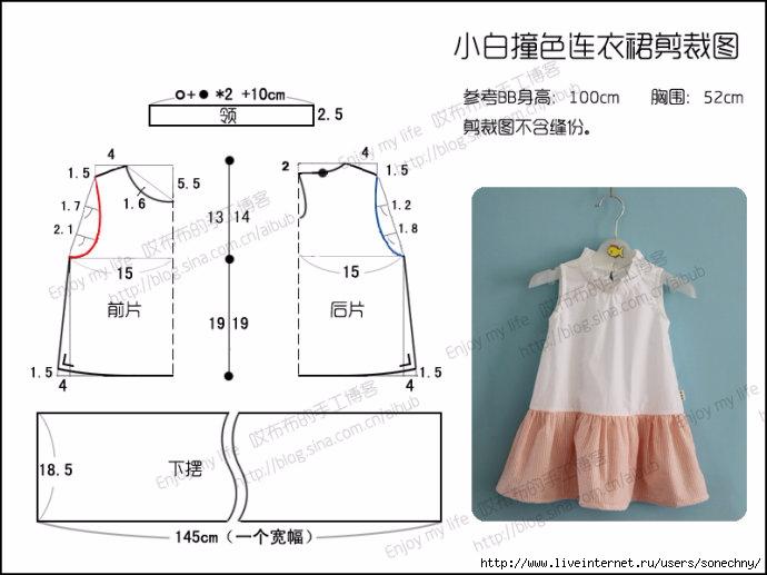 Сшить платье своими руками без выкройки быстро для девочки 10