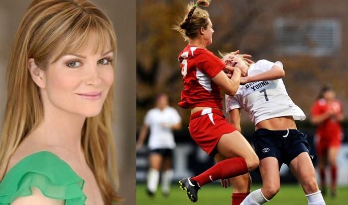 Видеохит недели   Неистовая Лиззи беснуется на футбольном поле