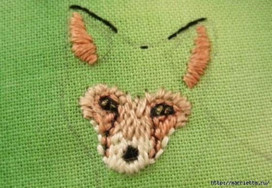 Панно с лисичкой. Вышиваем гладью (15) (560x388, 155Kb)