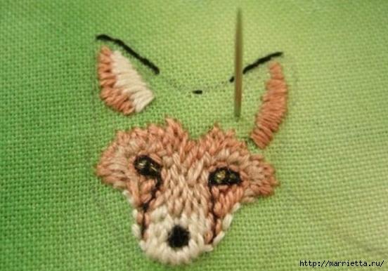 Панно с лисичкой. Вышиваем гладью (17) (552x386, 135Kb)