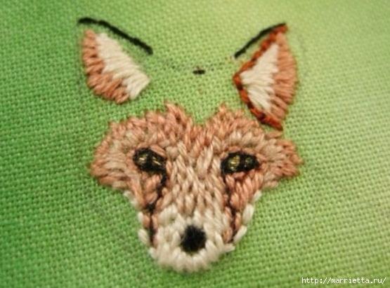 Панно с лисичкой. Вышиваем гладью (19) (555x411, 149Kb)