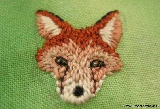 Панно с лисичкой. Вышиваем гладью (21) (556x381, 133Kb)