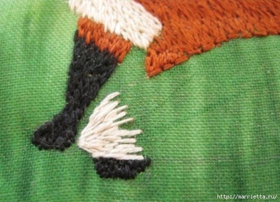 Панно с лисичкой. Вышиваем гладью (31) (560x405, 156Kb)