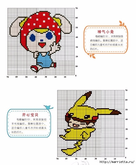 Вязание с аппликацией для детских нарядов (2) (470x571, 177Kb)
