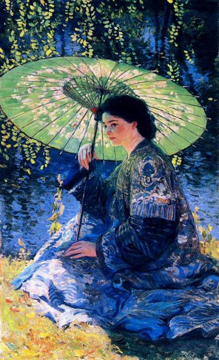1 Ги Роуз «Зеленый зонтик» 1911 (426x700, 477Kb)
