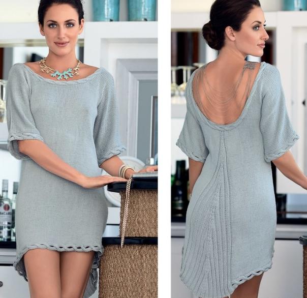 платье с глубоким вырезом на спине(604x586, 658Kb)