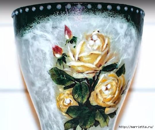 Декупаж стеклянной вазы для цветов. Видео мастер-класс (2) (539x451, 144Kb)