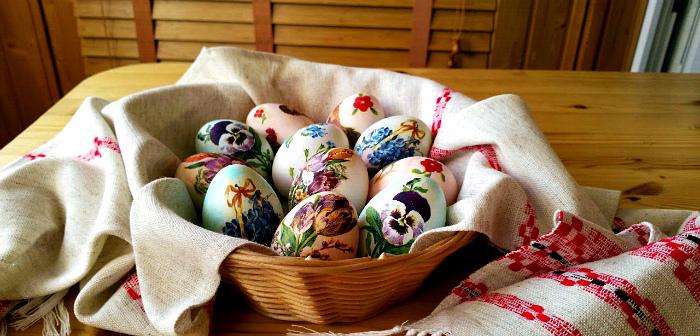 салфетки для декупажа пасхальных яиц фото