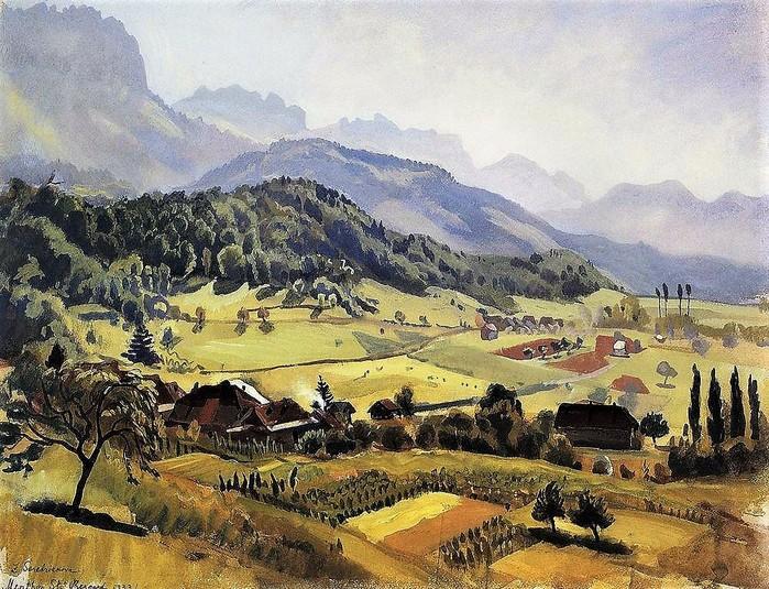 Альпы, Аннеси      1933,    46?61 см (700x535, 173Kb)