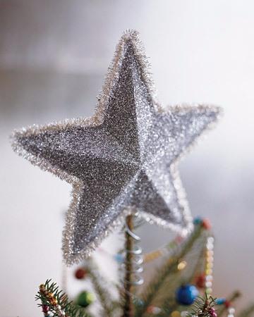 Новогодняя звезда из картона. Мастер-класс (360x450, 122Kb)