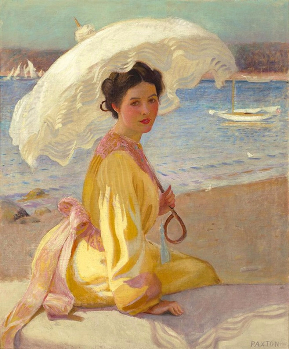 Girl with the Sea Beyond. 1910 (579x700, 436Kb)