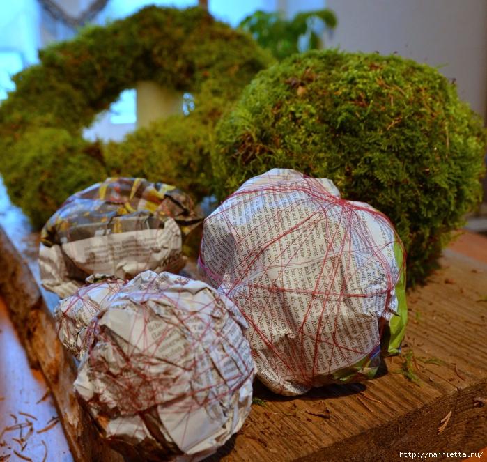 Пасхальные венки и декоративные шары из мха (5) (700x663, 417Kb)