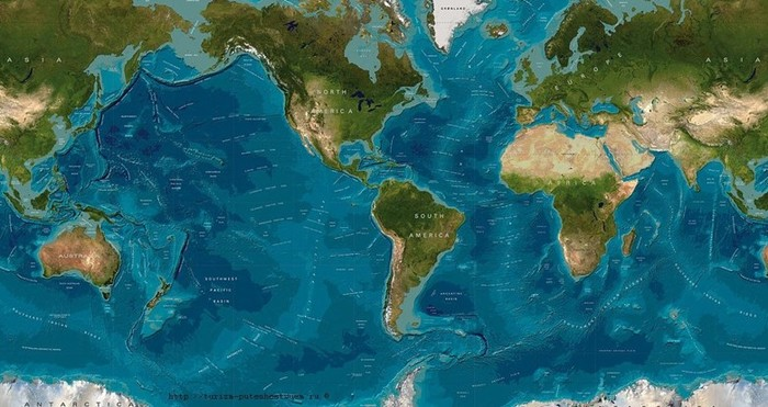 Океан океанов! Все четыре огромные части Мирового океана