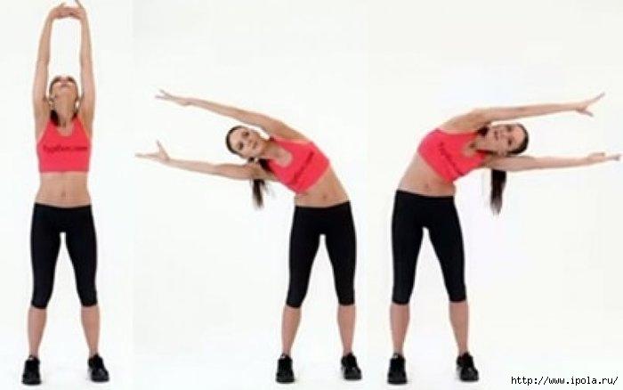 упражнение как убрать живот и бока видео