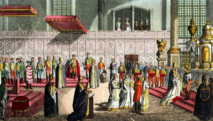 Coronation_Day_of_Mary_of_Hungary,_Illustration_for_Il_costume_antico_e_moderno_by_Giulio_Ferrario_1831_(8) (700x397, 413Kb)