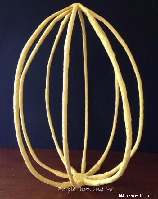 Декоративное пасхальное яйцо из проволоки и гофрированной бумаги (5) (509x640, 156Kb)