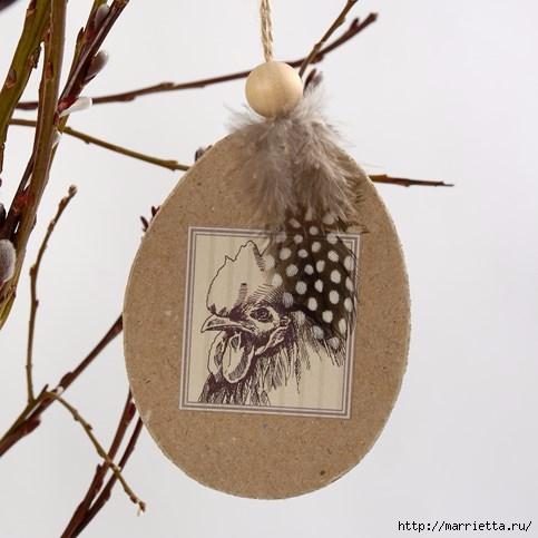 Подвески «Пасхальные яйца» из картона для украшения праздничного интерьера (12) (483x483, 107Kb)