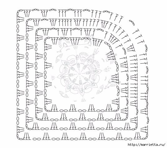 Коврик крючком из меланжевой и пряжи «травка» (4) (536x477, 166Kb)