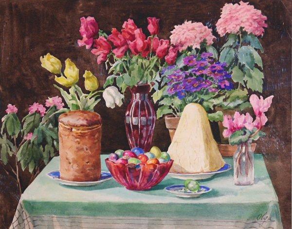 пасха в живописи 2 (600x470, 279Kb)