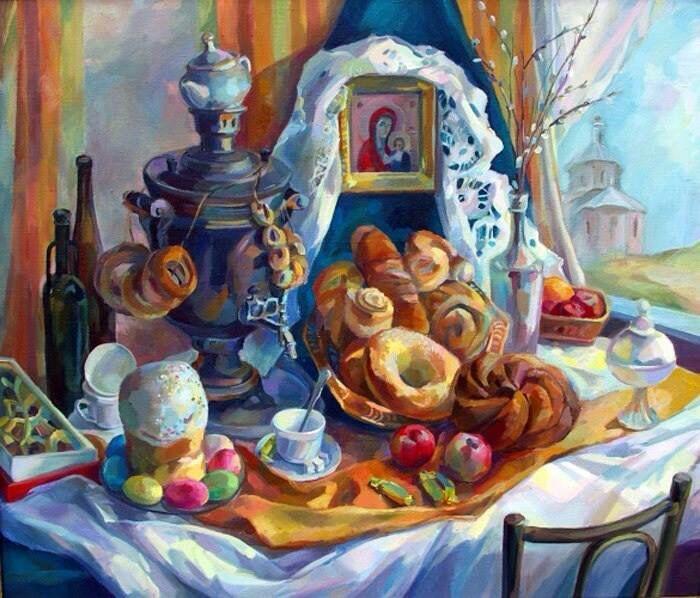 пасха в живописи 11 (700x598, 391Kb)