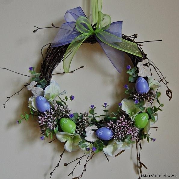 Пасхальный декор. Красивые идеи к празднику (8) (595x596, 232Kb)