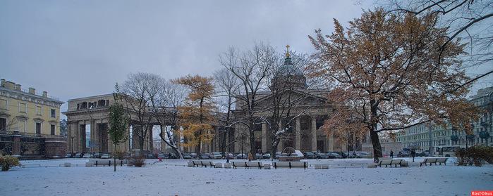 Казанский Собор зимой (700x279, 107Kb)