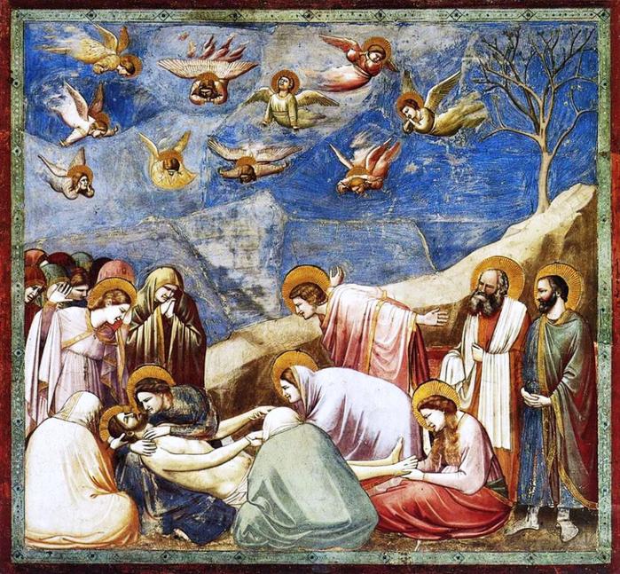 Джотто_Оплакивание Христа (Сцены жития Христова) (700x647, 648Kb)