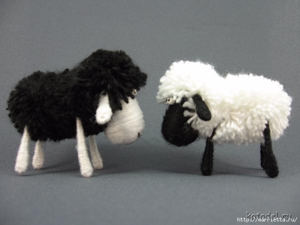 Как сделать овечку из ниток. Мастер-класс (2) (600x450, 174Kb)