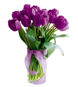 Букетик с фиолет тюльп. (268x300, 85Kb)