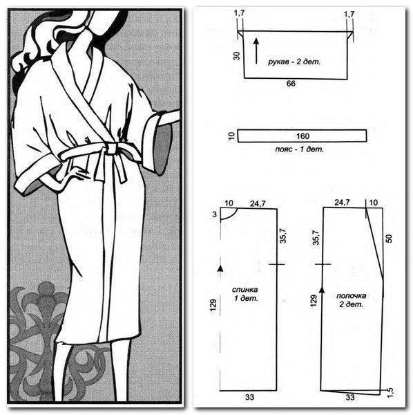 Шьём махровый халат3 (598x600, 165Kb)