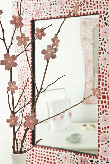 Цветы из бумаги в интерьере. Красивые идеи (1) (466x700, 241Kb)