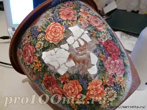 Мозаика из яичной скорлупы. Цветочный горшок (2) (510x383, 130Kb)