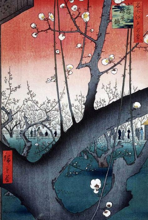 Утагава Хиросигэ_Цветущий сливовый сад в Камейдо 1857 (472x700, 405Kb)