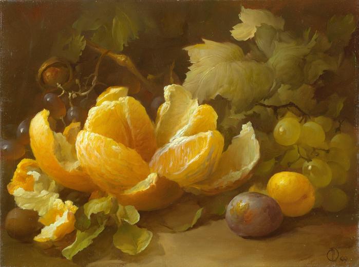 Апельсин. Холст, масло 30-40см 18-06-2007г. Частная коллекция. (700x520, 462Kb)