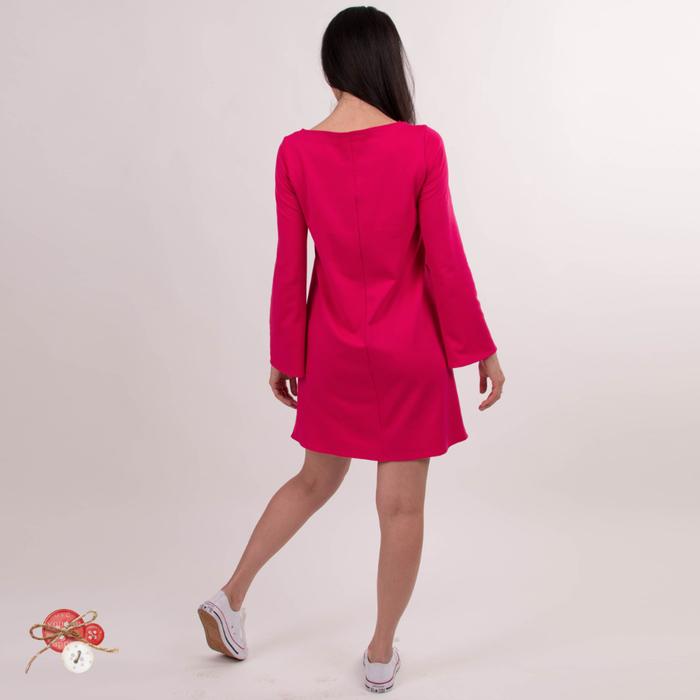 платье с воланами фуксия5 (700x700, 189Kb)