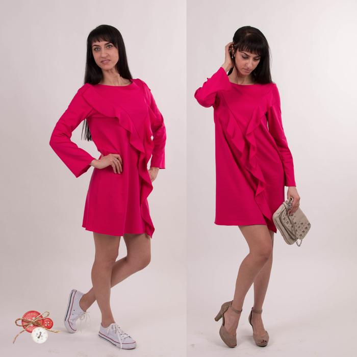 платье с воланами фуксия1 (700x700, 290Kb)