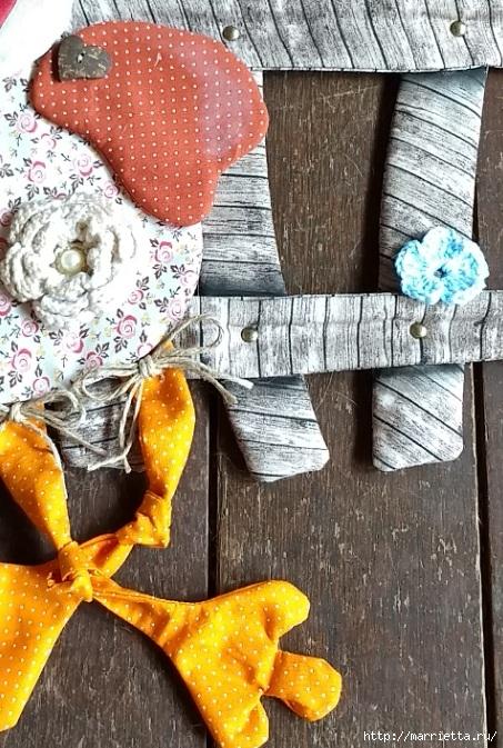 Текстильная птичка - подвеска для интерьера детской комнаты (2) (453x673, 305Kb)