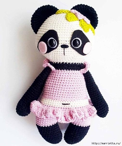 Вяжем крючком игрушку «Панда Нелли» (6) (507x605, 175Kb)