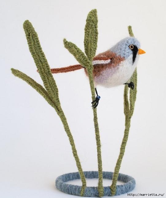 Птичий двор Jose Heroys. Вязаные птички, необыкновенной красоты (27) (541x645, 149Kb)