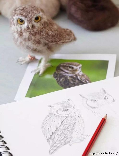 Птичий двор Jose Heroys. Вязаные птички, необыкновенной красоты (31) (496x650, 127Kb)