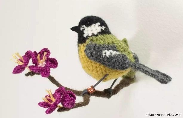 Птичий двор Jose Heroys. Вязаные птички, необыкновенной красоты (45) (613x395, 102Kb)