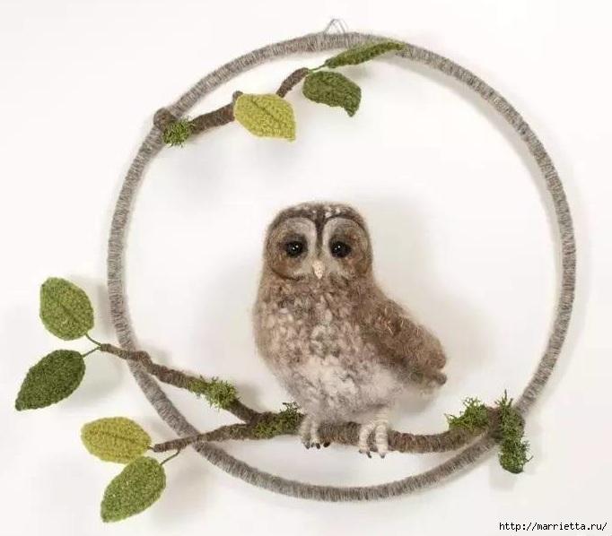 Птичий двор Jose Heroys. Вязаные птички, необыкновенной красоты (51) (682x598, 164Kb)