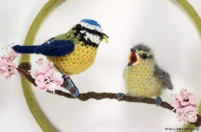 Птичий двор Jose Heroys. Вязаные птички, необыкновенной красоты (53) (700x458, 158Kb)