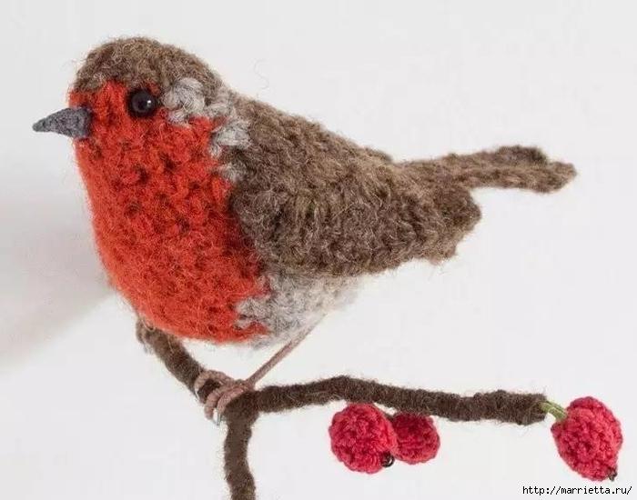 Птичий двор Jose Heroys. Вязаные птички, необыкновенной красоты (61) (700x550, 183Kb)