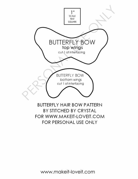 Бабочка из ткани МК 6 (540x700, 89Kb)