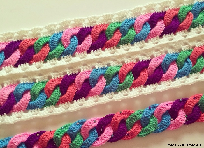 Детский плед крючком с узором из разноцветных колечек (1) (700x509, 341Kb)